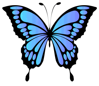 Vibrant Blue Butterfly Template, butterfly svg stencil, free template, pattern, clipart design, cricut, silhouette, scroll saw, coloring page.