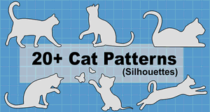 Cat Patterns and Stencils.