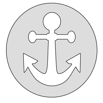 Free Anchor Christian cross (circle). christian religious pattern stencil template print download vector svg laser scroll saw vinyl cricut silhouette cutting machines.
