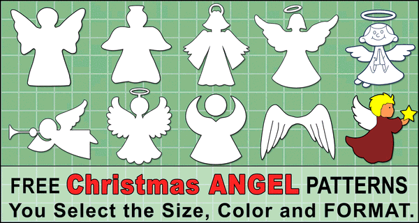 Angel Templates and Stencils (Free Printable Patterns)