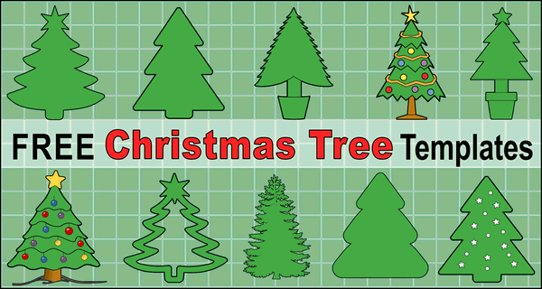 Printable Christmas Tree Templates and Stencils, Use these clip art designs of tree patterns for holiday ornaments and decorations, coloring pages, Silhouette and Cricut cutting machines, scroll saw patterns.