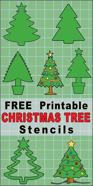 Printable DIY Christmas Tree Templates and Stencils, Use these clip art designs of tree patterns for holiday ornaments and decorations, coloring pages, Silhouette and Cricut cutting machines, scroll saw patterns.