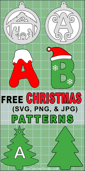 Print Christmas patterns and svg stencils for coloring pages, scroll saw patterns, laser cutting, crafts, vinyl cutting, screen printing, silhouette, cricut machines.