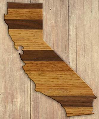 Free California cutting board pattern, printable, design, template, DIY wooden, wood, kitchen, chopping board for cheese, bread, meat, vegetables.