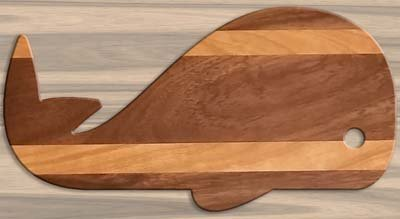 Free Whale cutting board pattern, printable, design, template, DIY wooden, wood, kitchen, chopping board for cheese, bread, meat, vegetables.