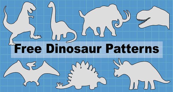 Dinosaur Patterns And Stencils (Printable Templates) – Patterns, Monograms,  Stencils, & DIY Projects