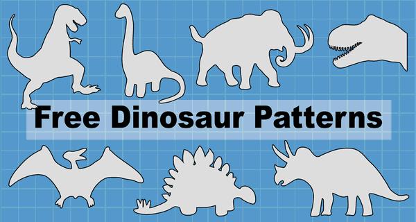 Dinosaur Patterns And Stencils Printable Templates