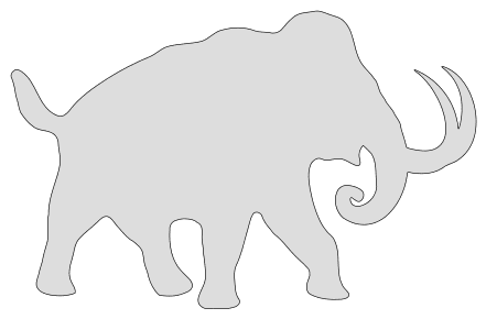 Free Mammoth Elephant Pattern  vector, cricut, silhouette, fossil, dino, jurassic, animal, cricut, scroll saw, svg, coloring page, quilting pattern, toy, design clipart.
