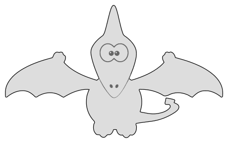 Free Pterodactyl Toy Dinosaur  vector, cricut, silhouette, fossil, dino, jurassic, animal, cricut, scroll saw, svg, coloring page, quilting pattern, toy, design clipart.