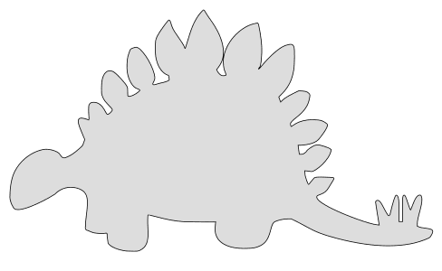 Free Stegosaurus Dinosaur Animal  vector, cricut, silhouette, fossil, dino, jurassic, animal, cricut, scroll saw, svg, coloring page, quilting pattern, toy, design clipart.