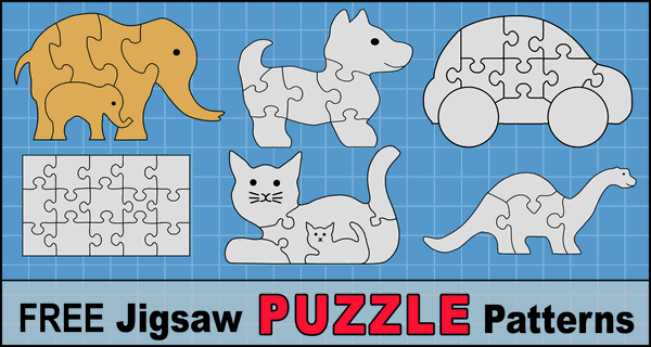 DIY JigSaw Puzzles (Free Patterns and Templates)