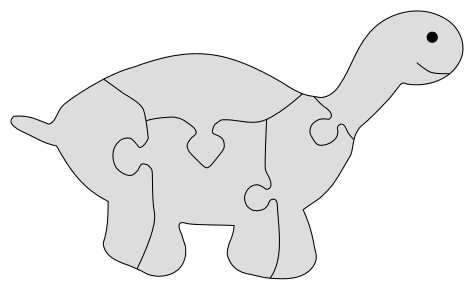 Turtle Tortoise Puzzle Pattern. Free printable wooden jigsaw patterns, stencils, and templates.  Great for scroll saw, cricut, DIY kid projects, and woodworking projects.