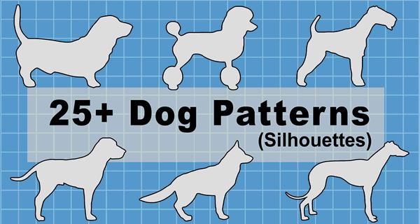 Dog Breed Silhouette Patterns, Stencils (JPG, PNG, SVG)
