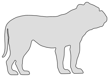 Free Bull Dog dog breed silhouette pattern scroll saw pattern, cricut cutting, laser cutting template, svg, coloring.