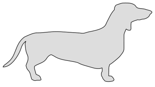 Free Dachshund dog breed silhouette pattern scroll saw pattern, cricut cutting, laser cutting template, svg, coloring.
