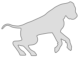 Free Mastiff dog breed silhouette pattern scroll saw pattern, cricut cutting, laser cutting template, svg, coloring.