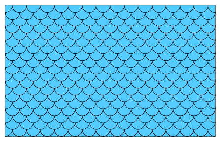 Free Fish Scales Pattern (Filled) template, stencil, clipart design, printable pattern, vector, cricut, scroll saw, svg, coloring page, quilting pattern.