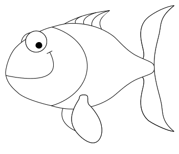 Free Fish Smiling Pattern template, stencil, clipart design, printable pattern, vector, cricut, scroll saw, svg, coloring page, quilting pattern.