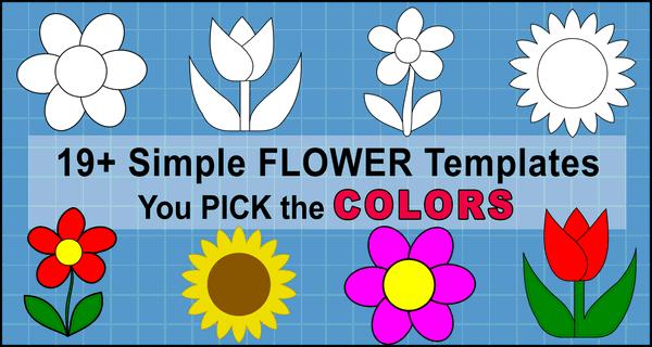Flower Templates, Patterns, SVG Files (Printable Flower Stencils)