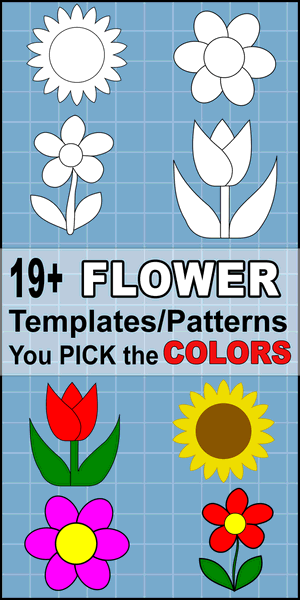 Free flower templates, patterns, svg files, printable flower stencils,  and clipart designs, Cricut, coloring, laser cutting, sewing, and DIY crafts.