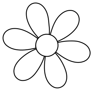 Daisy template., flowers template, pattern, svg stencil, free template, pattern, clipart design, cricut, silhouette, scroll saw, coloring page.