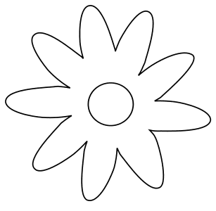 Flower blossom simple easy., flowers template, pattern, svg stencil, free template, pattern, clipart design, cricut, silhouette, scroll saw, coloring page.