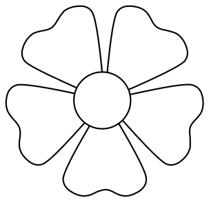 Flower shape blossom., flowers template, pattern, svg stencil, free template, pattern, clipart design, cricut, silhouette, scroll saw, coloring page.