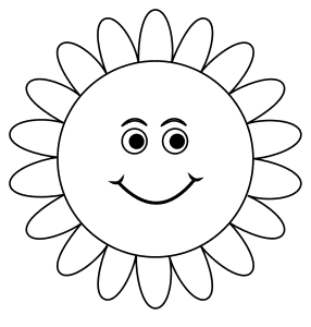 Sunflower plant simile., flowers template, pattern, svg stencil, free template, pattern, clipart design, cricut, silhouette, scroll saw, coloring page.