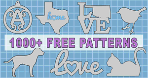 Free patterns to print or download including SVG vector stencils and designs.