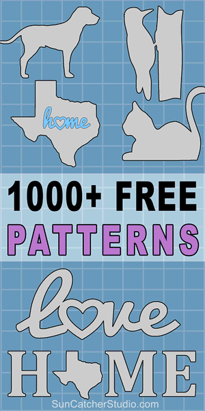 Free patterns and stencils to print or download including SVG vector designs - for DIY woodworking projects, Silhouette and Cricut laser cutting.