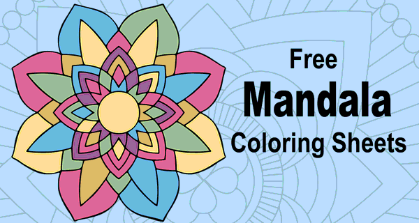 Mandala Coloring Pages (Printable Coloring Sheets For Kids & Adults) –  Patterns, Monograms, Stencils, & DIY Projects