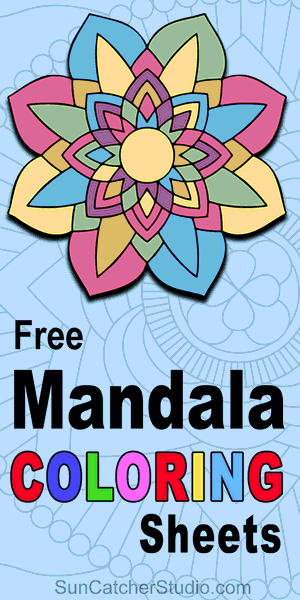 Free printable mandala coloring pages.  Download or print these coloring sheeets for kids, beginners, and adults.