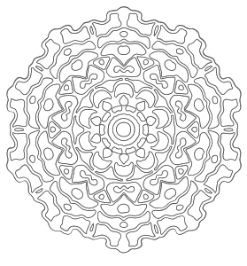 Free printable Circle Design Mandala.  These mandala coloring pages and coloring sheets are for adults, children, and beginners to download, print and colour.