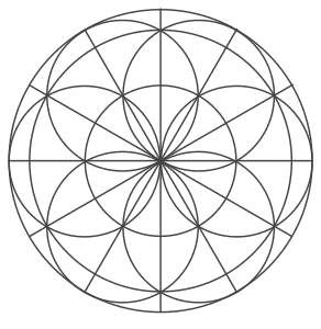 Free printable Flower Of Life Pattern.  These mandala coloring pages and coloring sheets are for adults, children, and beginners to download, print and colour.