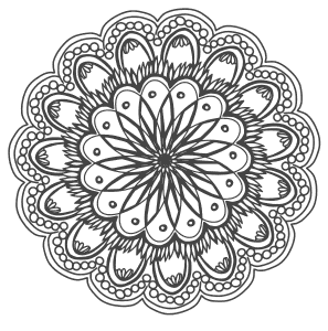 Free printable Hand Drawing Flowers Mandala.  These mandala coloring pages and coloring sheets are for adults, children, and beginners to download, print and colour.