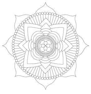 Free printable Lotus Mandala Flower.  These mandala coloring pages and coloring sheets are for adults, children, and beginners to download, print and colour.