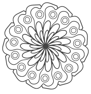 Free printable Mandala Coloring Adult Design.  These mandala coloring pages and coloring sheets are for adults, children, and beginners to download, print and colour.