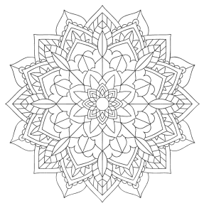Free printable Mandala Floral Coloring Page.  These mandala coloring pages and coloring sheets are for adults, children, and beginners to download, print and colour.