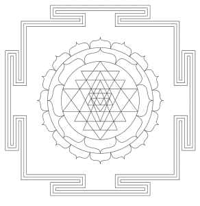 Free printable Mandala India Art Ornament.  These mandala coloring pages and coloring sheets are for adults, children, and beginners to download, print and colour.