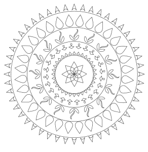 Free printable Printable Mandala Coloring Sheet.  These mandala coloring pages and coloring sheets are for adults, children, and beginners to download, print and colour.
