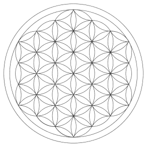 Free printable Seed Flower Of Life.  These mandala coloring pages and coloring sheets are for adults, children, and beginners to download, print and colour.