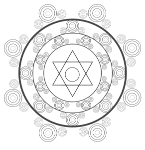 Free printable Spiritual Meditation Mandala Pattern.  These mandala coloring pages and coloring sheets are for adults, children, and beginners to download, print and colour.