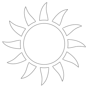 Free printable Sun Sky Coloring Page.  These mandala coloring pages and coloring sheets are for adults, children, and beginners to download, print and colour.