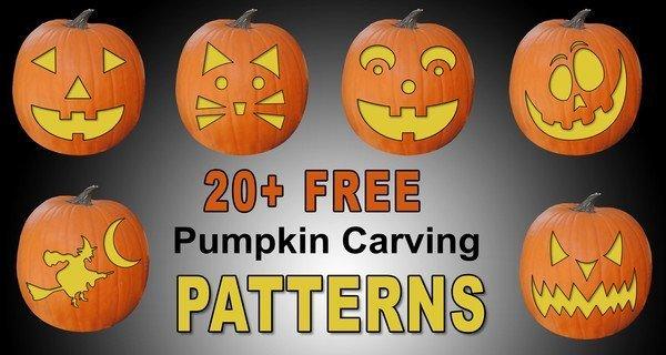 Pumpkin carving patterns stencils templates halloween decoration