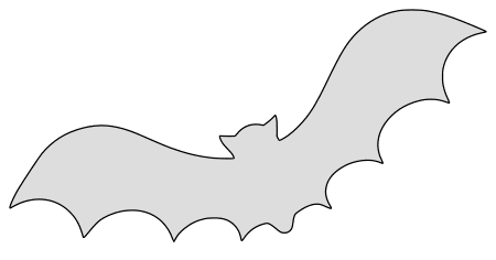 Batty pumpkin carving stencil, pattern, template, halloween decoration, Jack O Lantern,  print download free svg vector.