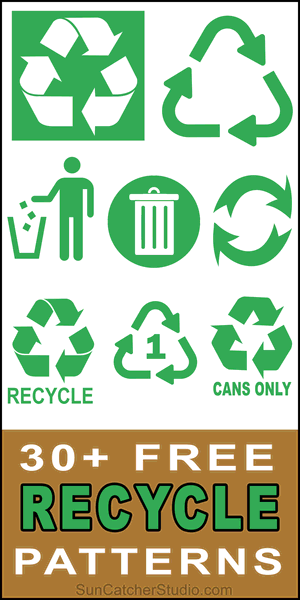 Pinterest Recycle Symbols, recycling icons, images, logos, clipart, signs, green, clean, environment. SVG vector graphics