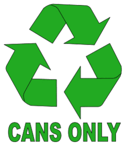 Free printable Cans Only Recycle Symbol.  green logo icon vector clipart design recycle recycling clean save environment svg vector image.
