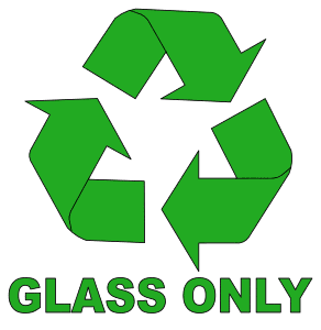 Free printable Glass Only Recycle Symbol.  green logo icon vector clipart design recycle recycling clean save environment svg vector image.