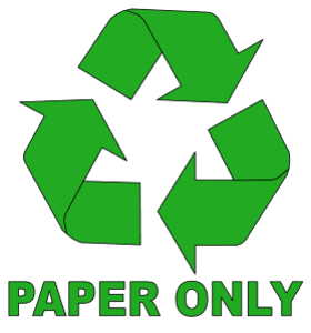 Free printable Paper Only Recycle Symbol.  green logo icon vector clipart design recycle recycling clean save environment svg vector image.
