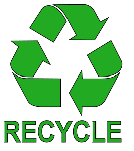Free printable Recycle Sign with Text.  green logo icon vector clipart design recycle recycling clean save environment svg vector image.